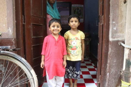 Shifa (Left) and Ifa (Right) clicked at their home