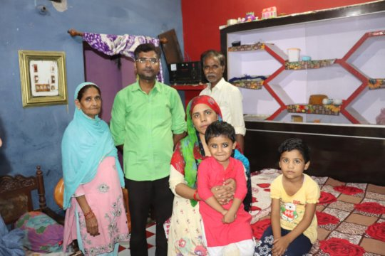 The Siddiqui Family clicked at their house in UP