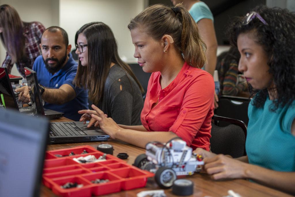 Robotics training through practical experiences