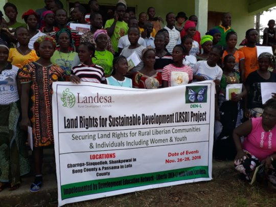 Community members after a training, Liberia