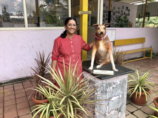 Sudha with Charlie
