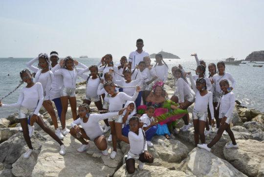 The whole TDJ Dance Group Fiesta del Mar