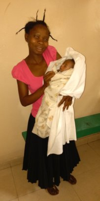 Davina with her new baby!