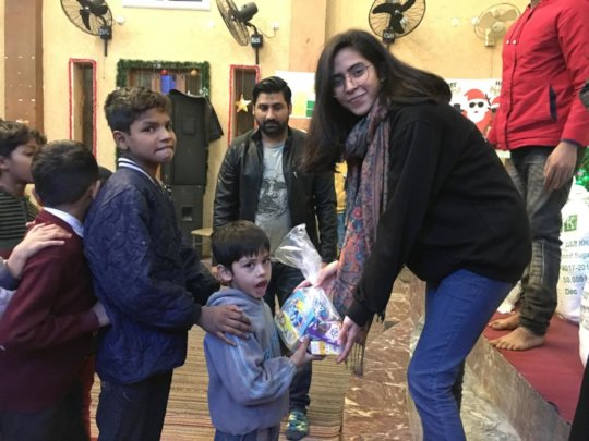 Sharing Love on Christmas gift bags