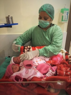 Twin Babies Delivered at Our Hospital