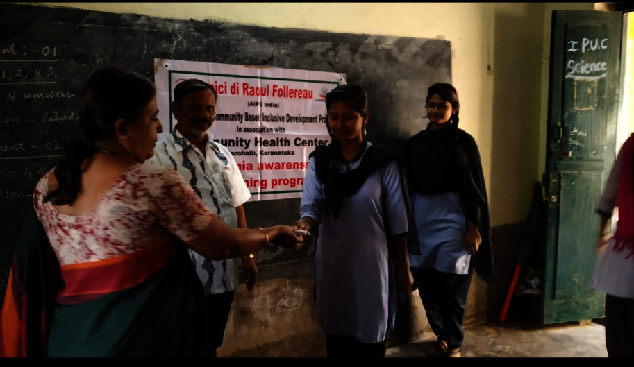 Distribution of medicine to Anemic students