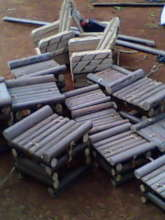 Chairs produced from bamboos