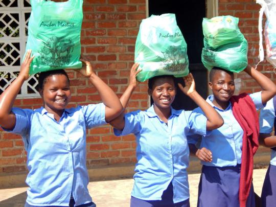 Grocery distribution in Nsondole!