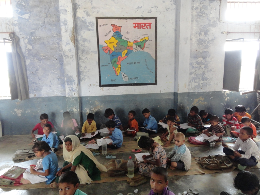 The simple classroom of these admirable children.