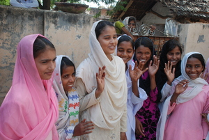 Blossom Bus girls in rural Mewat