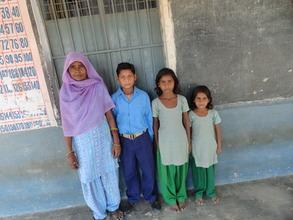 Proud mom, Kamlesh, with Sushil, Laxmi and Priya.