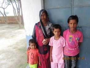 Meera with her children