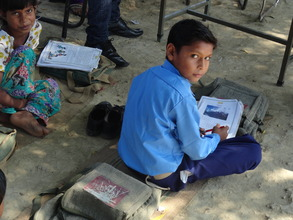 Bright Sushil in his class.