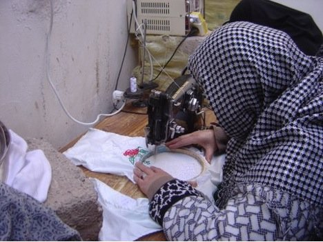 Women Sewing in an AIL Class