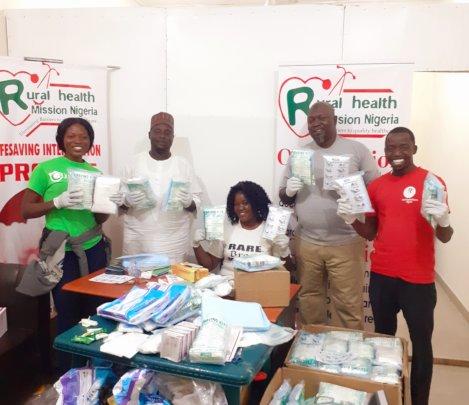 Volunteers at the Lifesaving Kits assembly