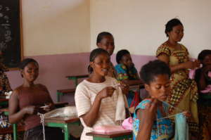 Tailoring laboratory for the girls
