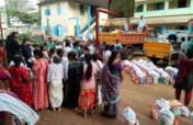 FLOOD DISASTER VICTIMS REBUILDING AT KERALA, INDIA