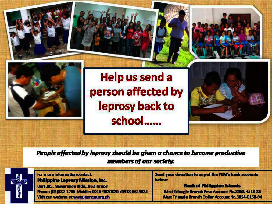 Help Persons Affected by Leprosy Stay in School