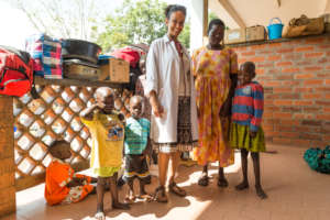 Dr Calbi with Children with Cancer From the Ward