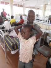 Anthony and Jacob on the Children's Cancer Ward
