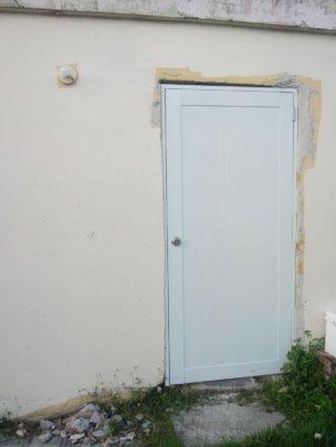 Repair work on a door