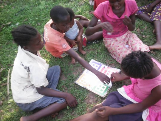 Girls activities in the camp.