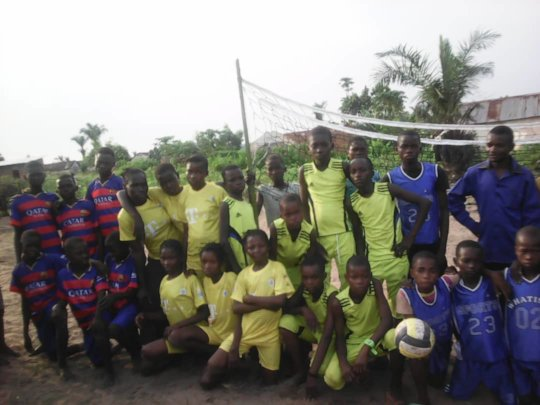 Children activities football competition