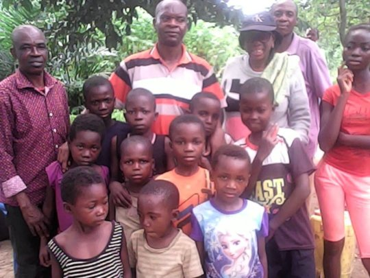 Our Team in congo with the children