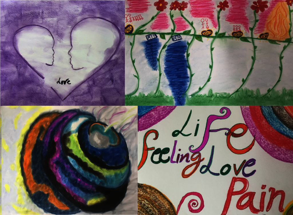 Artwork from women who participated in RESTORE