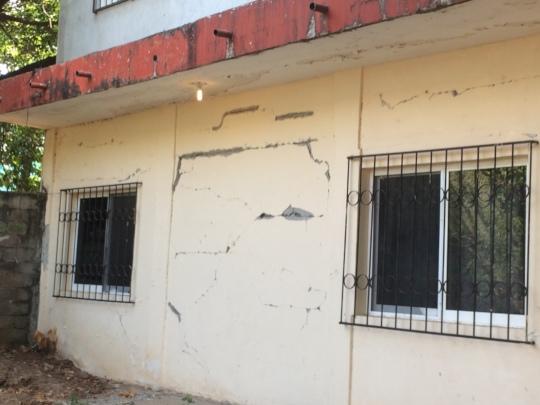 Damage at the El Espinal Student House