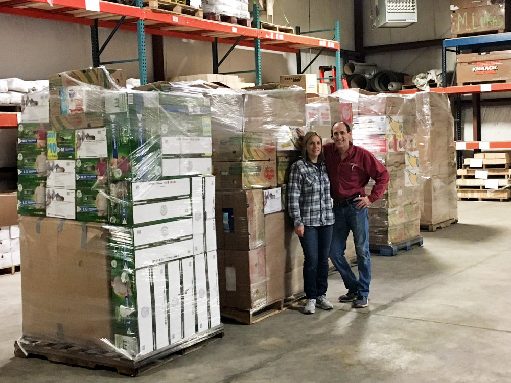 Joe & Amy, with pallets bound for North Carolina!