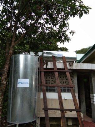 Itogon District Hospital water tank repair.
