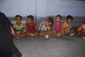 Children Having their breakfast