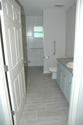 Completed Bathroom in each SRO Unit