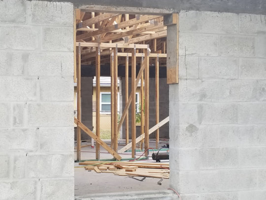 Inside of House being constructed