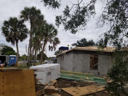 Roof is underway