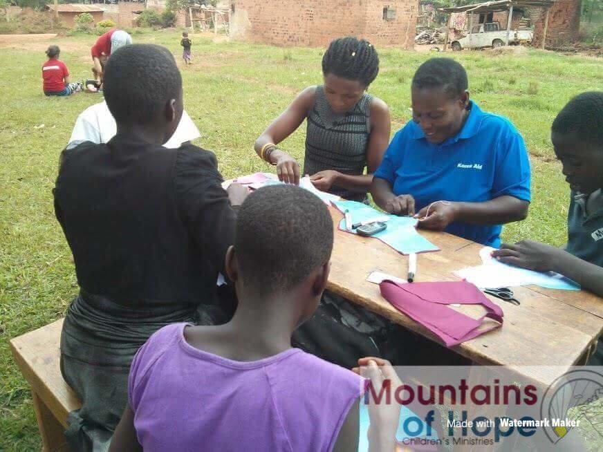 Enable 300 make their own sanitary pads in Uganda