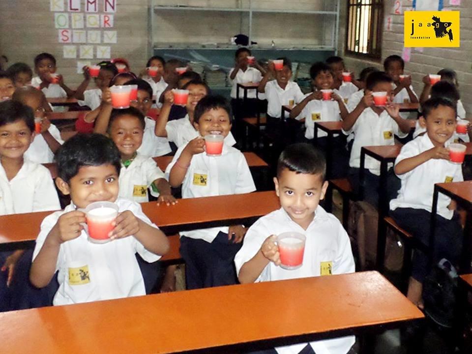 Sharing Happiness with JAAGO children