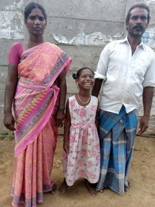 Yogeshwari with her parents