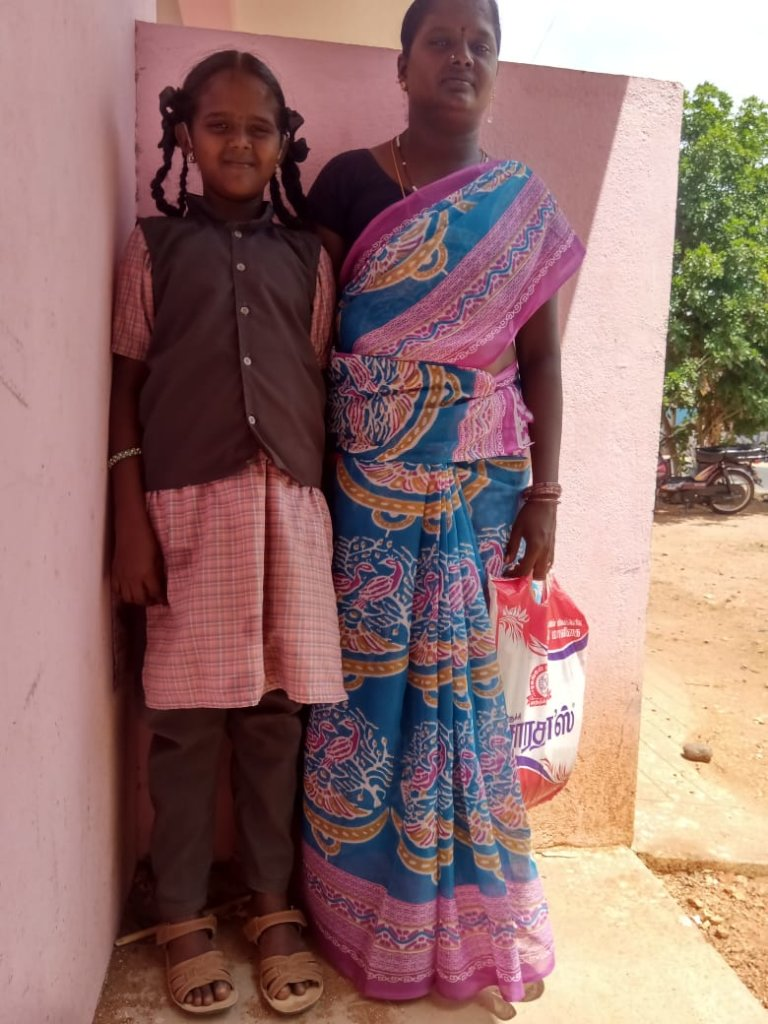 Leena with her mother