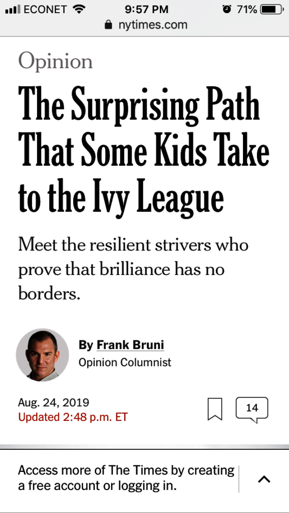 USAP in the New York Times
