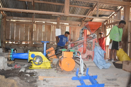 cross-checking the MHP Powered Rice Mill