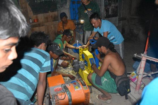 installation of the turbine