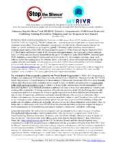 Stop the Silence/Trust MYRIVR Partnership Model (PDF)