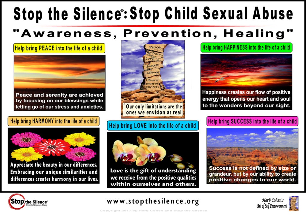 Stop the Silence-Herb Cohen Advocacy Print Cover