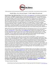 Stop the Silence Art as Advocacy community program (PDF)