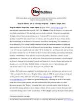 Stop the Silence University and Community Model (PDF)