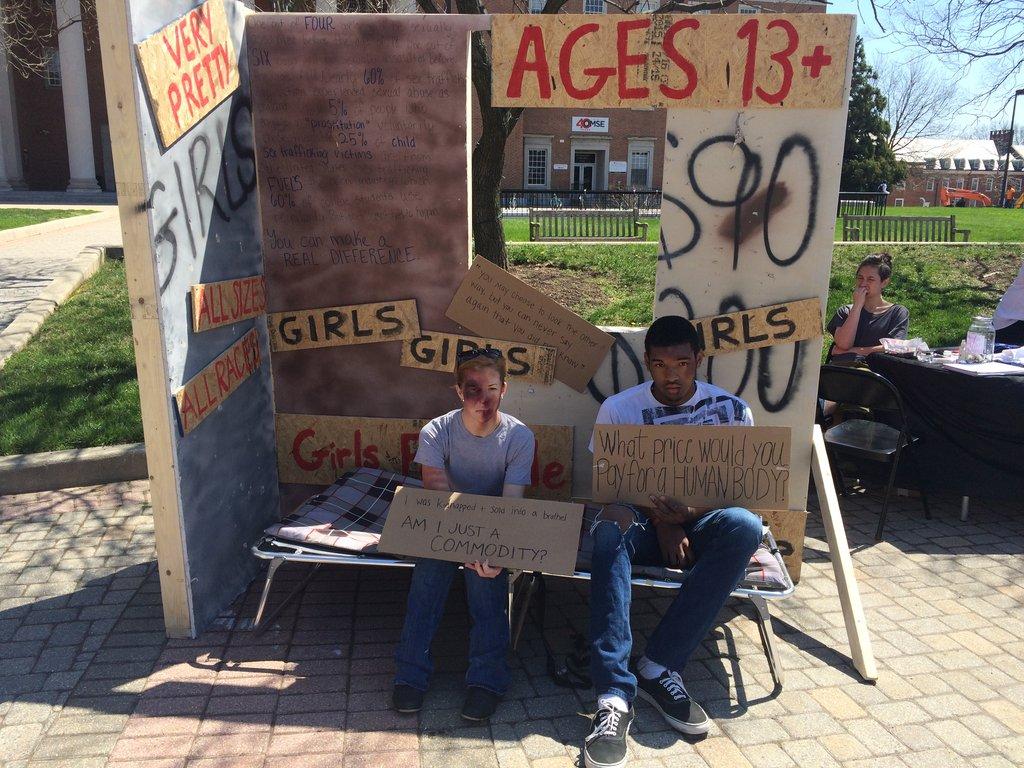 Trafficking display at Stop the Silence-UM-UMD