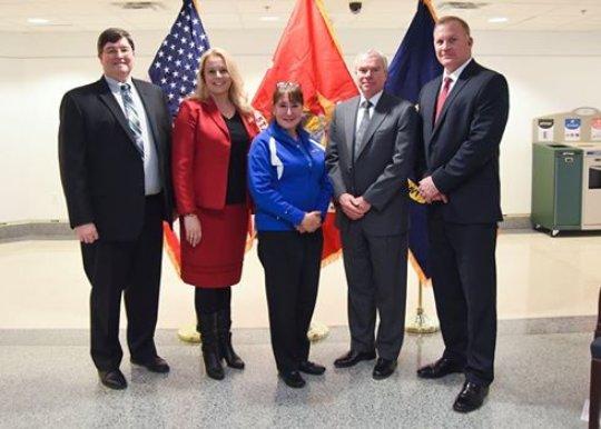 Pam, Jill, Navy, and USMC Top Staff at CFC Awards