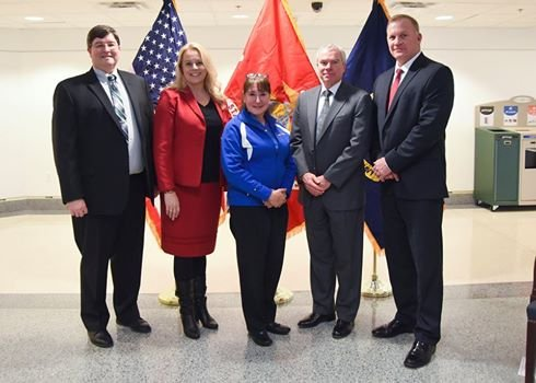 Pam, Jill, Navy, and USMC Top Staff at CFC Awards
